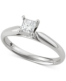 Princess Cut Solitaire Engagement Ring (1/2 ct. t.w.) in 14k White Gold, SI2 Clarity