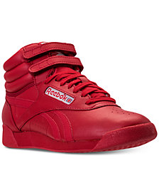 Reebok Women's Freestyle High Top Spirit Casual Sneakers from Finish Line