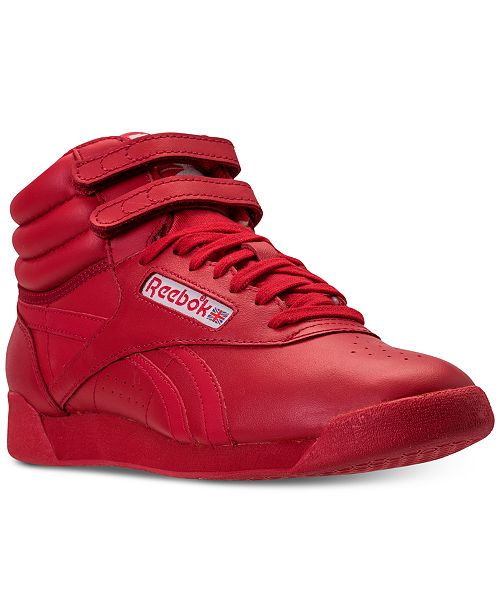 a797a397bd4de ... Reebok Women s Freestyle High Top Spirit Casual Sneakers from Finish ...