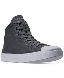 Converse Men's Jack Purcell Jack High Top Casual Sneakers from Finish Line