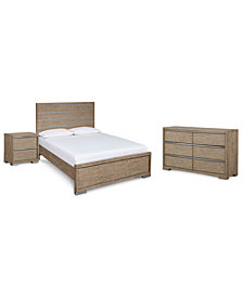 CLOSEOUT! Altair Bedroom Furniture, 3-Pc. Set (Queen Bed, Dresser & Nightstand), Created for Macy's