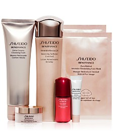 MACYS SPECIAL FREE 6 PIECE GIFT VALUED AT $107 WITH YOUR SHISEIDO PURCHASE!