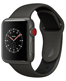 Apple Watch Edition (GPS + Cellular),  38mm Gray Ceramic Case with Gray/Black Sport Band