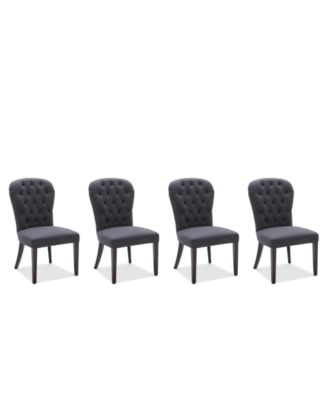 Caspian Upholstered Round Back Dining Chairs, Set of 4, Created for Macy's
