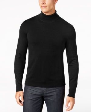 Men's Vintage Sweaters History Alfani Mens Turtleneck Sweater Created for Macys $24.99 AT vintagedancer.com