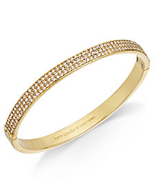 kate spade new york Gold-Tone Pavé Bangle Bracelet