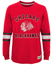 Outerstuff Chicago Blackhawks Historical Long Sleeve T-Shirt, Big Boys (8-20)