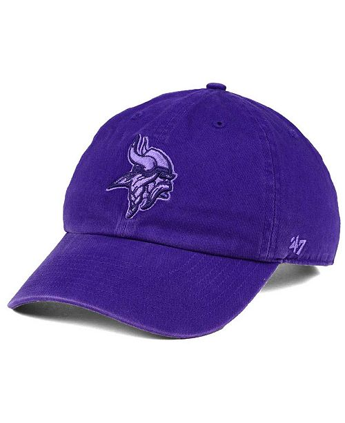 '47 Brand Minnesota Vikings Triple Rush CLEAN UP Cap