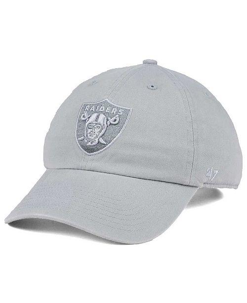 '47 Brand Oakland Raiders Triple Rush CLEAN UP Cap