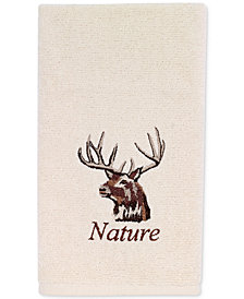 Avanti Nature Walk Cotton Embroidered Fingertip Towel