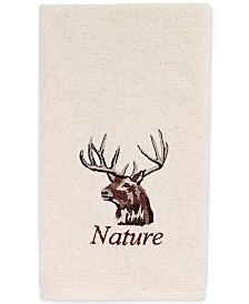 Avanti Nature Walk Cotton Embroidered Fingertip Towel