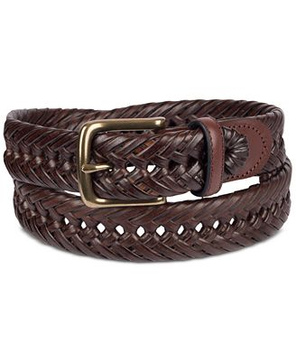Tommy Hilfiger Men S Braided Leather Belt Reviews All