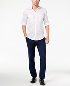 Alfani Men's Warren Shirt & Slim-Fit Stretch Denim, Created for Macy's