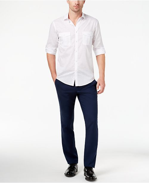 Alfani Men's Warren Shirt & Slim-Fit Stretch Denim, Created for Macy's