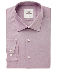 Ben Sherman Men's Slim-Fit Wine Pinpoint Dobby Dress Shirt