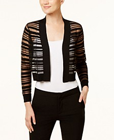 Sheer-Stripe Shrug