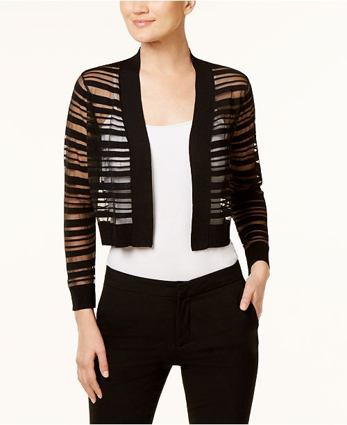 Calvin Klein Sheer-Stripe Shrug