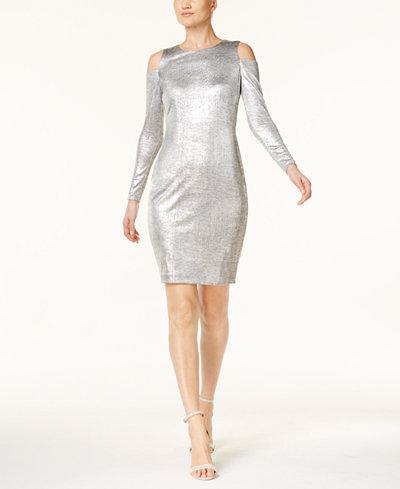 Calvin Klein Cold-Shoulder Sheath Dress, Regular & Petite Sizes, Created for Macy's