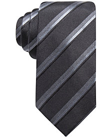 Alfani Men's Stripe Slim Silk Tie, Created for Macy's