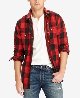 Polo Ralph Lauren Men's Iconic Flannel Shirt - Casual Button-Down ...