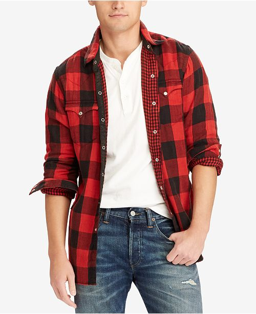 853b82ec7 Polo Ralph Lauren Men's Iconic Flannel Shirt; Polo Ralph Lauren Men's  Iconic Flannel ...