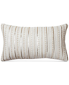 "Hotel Collection Diamond Embroidered 14"" x 24"" Decorative Pillow"