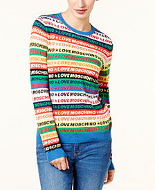 Love Moschino Cotton Logo-Graphic Sweater