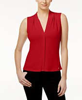 371287aff26 Red Calvin Klein Clothing for Women - Macy s