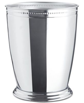Serene Wastebasket Crackle  Metal Chrome