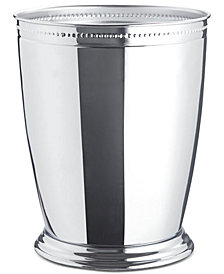 JLA Home Serene Wastebasket Crackle  Metal Chrome
