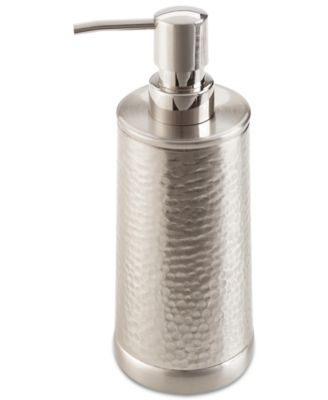Chase Lotion Pump Hammered metal brushed chrome