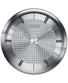 Citizen Gallery Silver-Tone Metal Wall Clock
