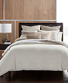Hotel Collection Pebble Diamond Cotton King Duvet Cover, Created for Macy's