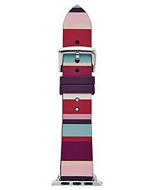 kate spade new york Women's Multicolored Striped Silicone Apple Watch® Strap