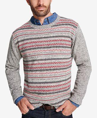 Weatherproof Vintage Men's Fair Isle Sweater - Sweaters - Men - Macy's