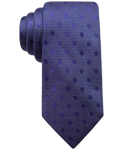 Ryan Seacrest Distinction™ Men's Evans Dot Silk Tie, Created for Macy's