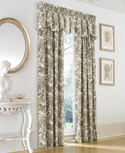 J Queen New York Valdosta Cotton Rod Pocket Curtain Panel Collection