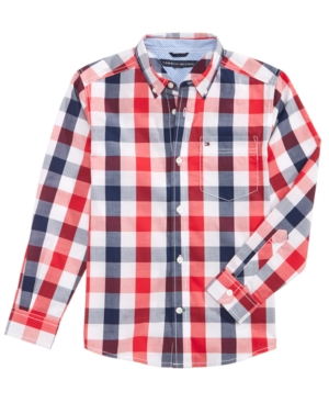Tommy Hilfiger Brett Plaid Cotton Shirt Toddler Boys (2T5T)