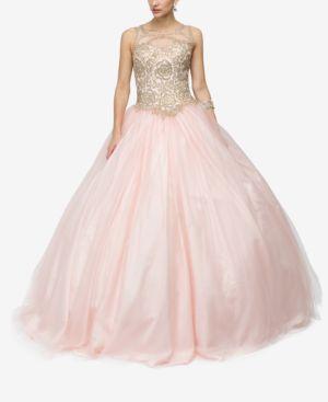 DANCING QUEEN | Dancing Queen Juniors' Embellished Applique Gown | Goxip