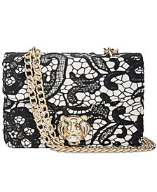 Betsey Johnson Lady Lace Chain Strap Shoulder Bag