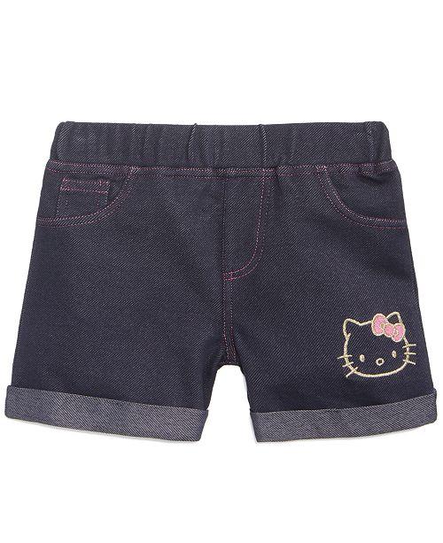 d0cf21d7d Hello Kitty Little Girls Denim-Look Knit Shorts & Reviews - Shorts ...