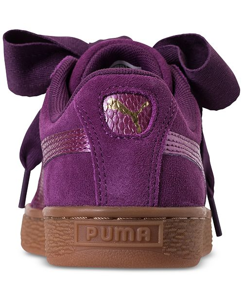 632f4e91576b ... Puma Big Girls  Suede Heart SNK Casual Sneakers from Finish Line ...