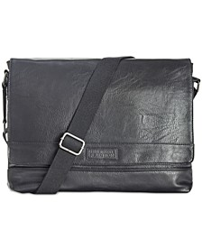 Men's Pebbled Messenger Bag