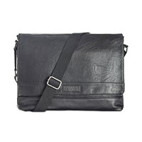 Kenneth Cole Reaction Men's Pebbled Messenger Bag (Black/Brown)