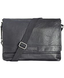 38ffa8ee15b9 Kenneth Cole Reaction Men s Pebbled Messenger Bag