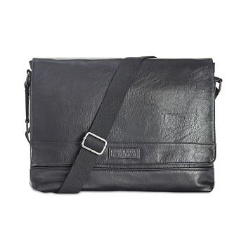 Kenneth Cole Reaction Men's Pebbled Messenger Bag