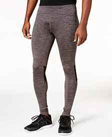 ID Ideology Men's Space-Dyed Zip Running Leggings, Created for Macy's