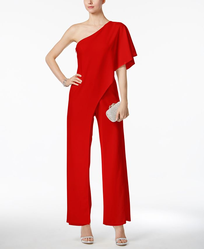 Adrianna Papell - Draped One-Shoulder Jumpsuit