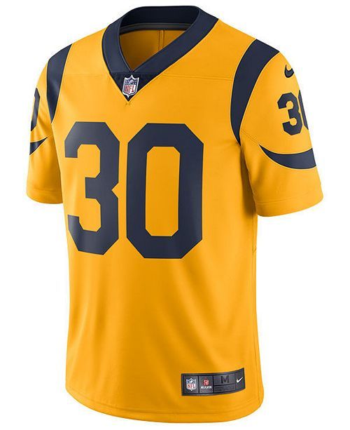 new styles 08ff8 65e64 Men's Todd Gurley Los Angeles Rams Limited Color Rush Jersey