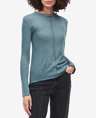 Calvin Klein Jeans Long-Sleeve Seam-Detail Sweater